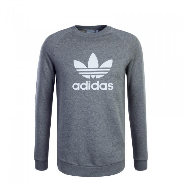 Adidas Trefoil Sweat Grey White