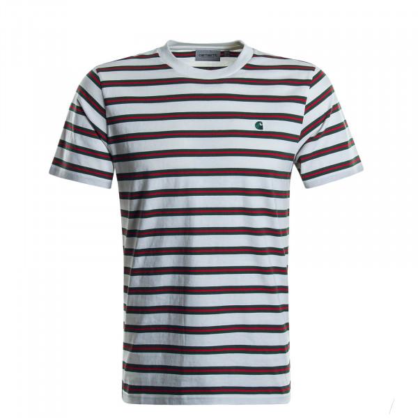 Herren T-Shirt Oakland Stripe Beige Olive