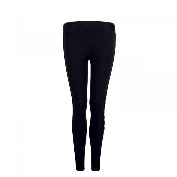 Damen Leggings Tape Black White