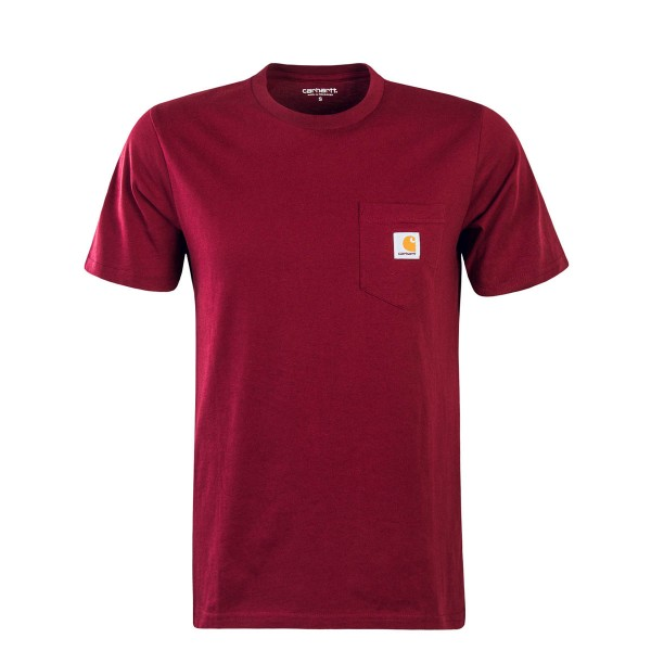 Carhartt TS Pocket single Jersey Bordo