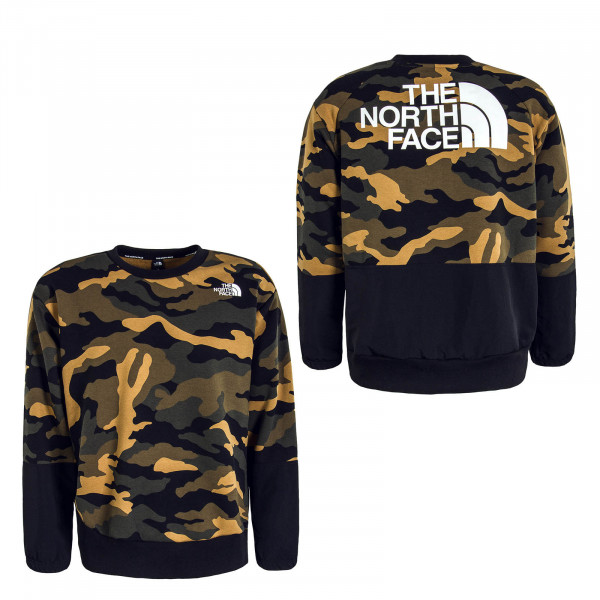 Herren Sweat Graphic Camouflage Olive