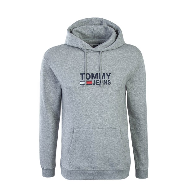 Tommy Hoody Corp Logo Grey