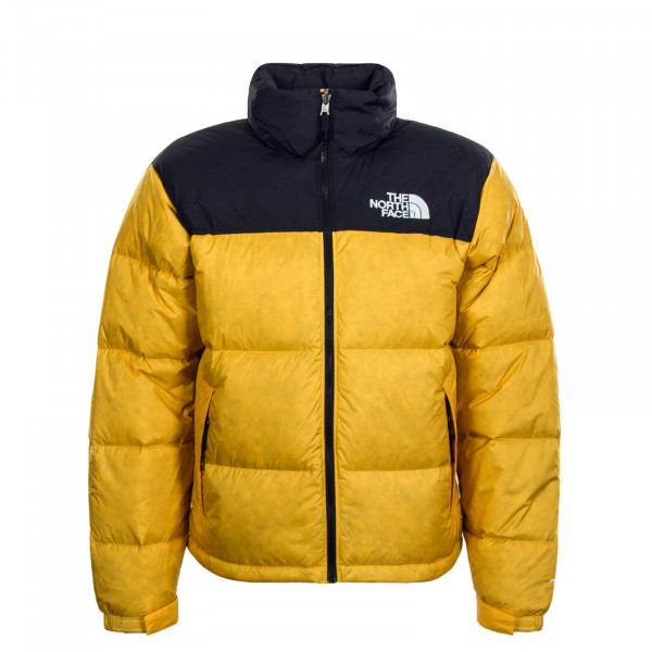 Damen Jacke Retro Nuptse Yellow Black