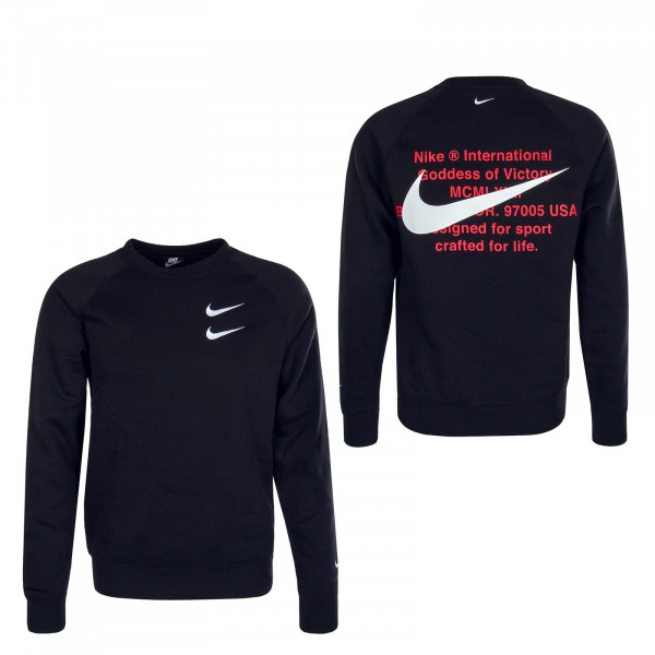 Herren Sweater Swoosh 4865 Black White