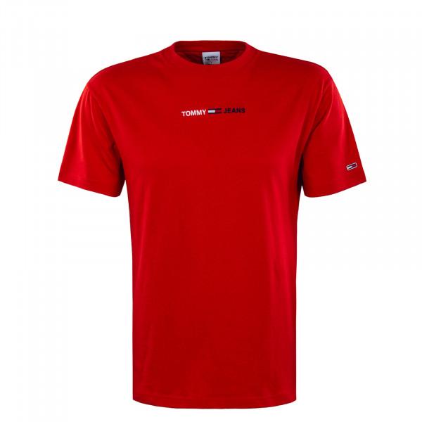 Herren T-Shirt - Linear Logo Tee - Deep Crimson