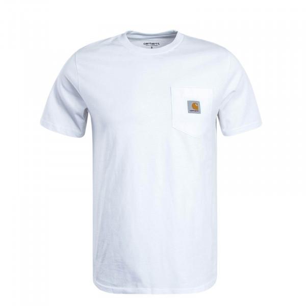 Herren T-Shirt Pocket White