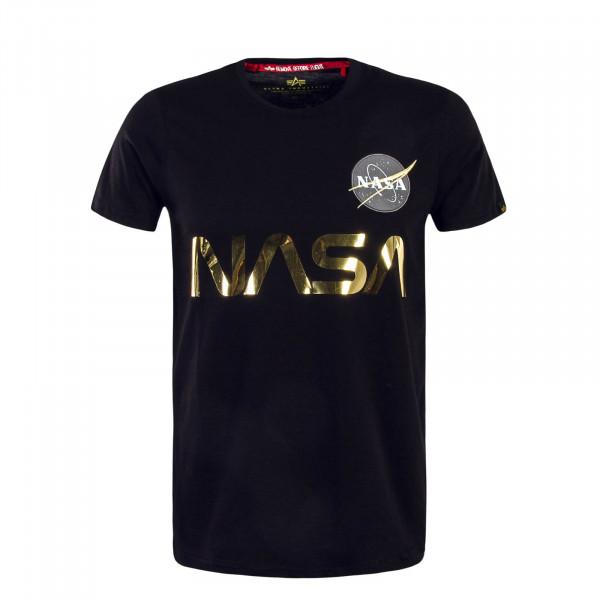 Herren T-Shirt Nasa Reflective Black Gold