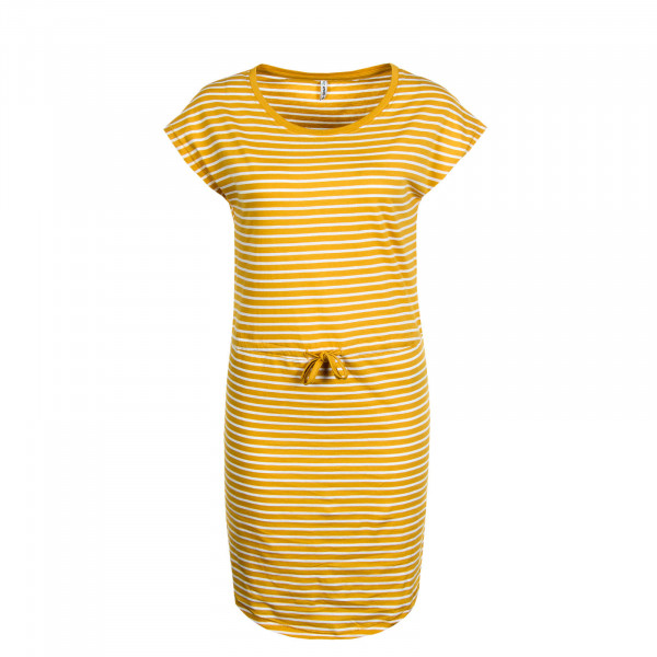 Kleid May Stripe Yellow White
