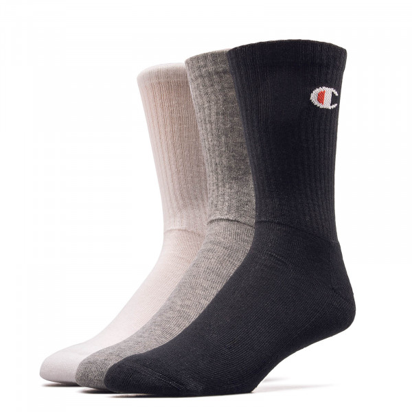 Socken 3er Pack 804618 Grey White Black