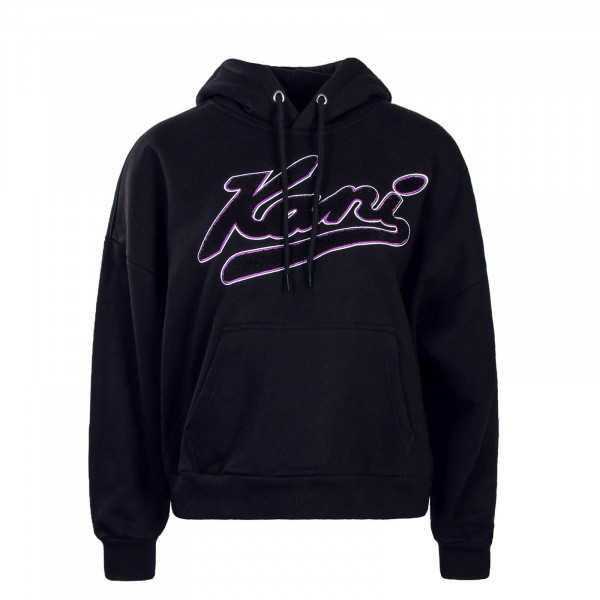 Kani Wmn Hoddy College Black Purple