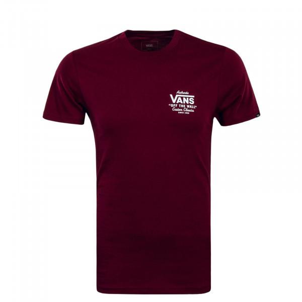 T-Shirt Holder Bordo White