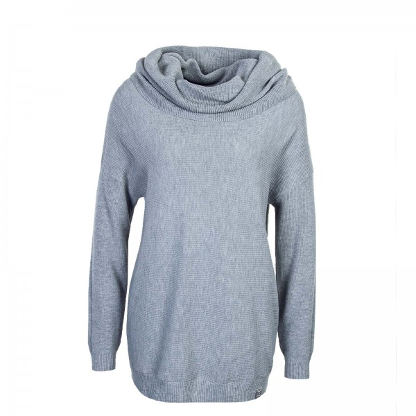 Iriedaily Wmn Knit Mock Turtle Grey