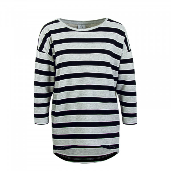 Damen Longsleeve Hailey Stripe Grey Black
