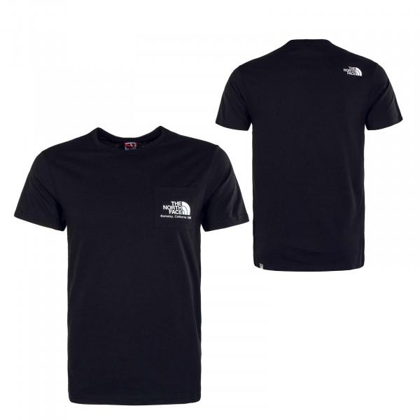Herren T-Shirt Berkeley California Tee Pocket Black