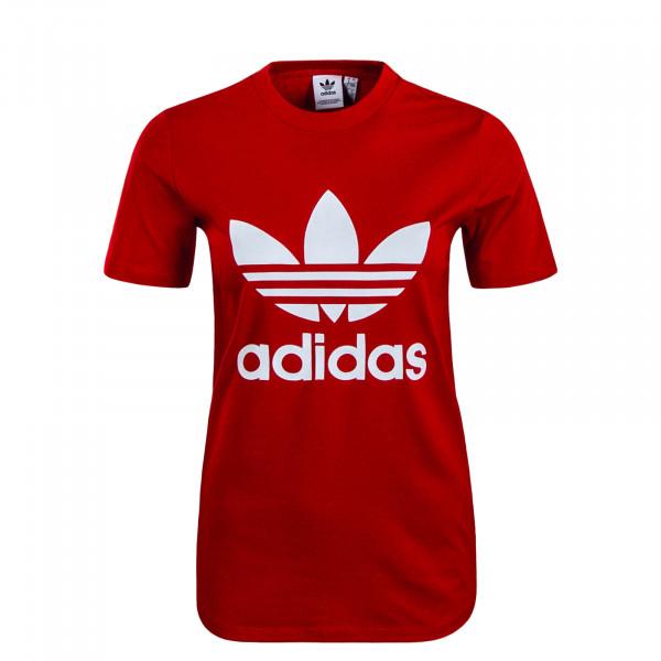 Damen T-Shirt Trefoil Red White