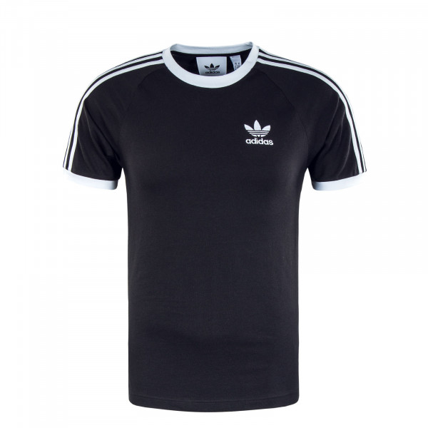 Herren T-Shirt - 3 Stripes - Black / White