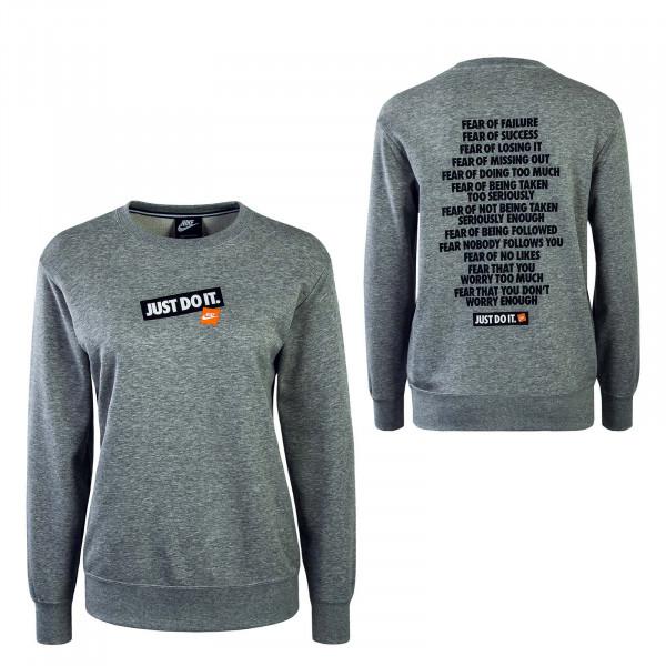 Damen Sweatshirt NSW Crew FT JDI Grey