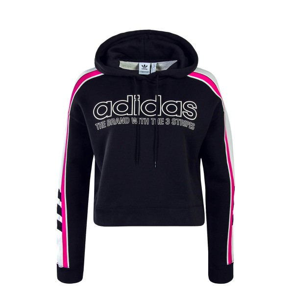 Adidas Wmn Hoody HD Black White Pink