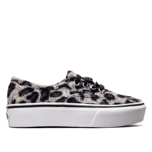 Vans Authentic Plattform Fuzzy Leo  Grey