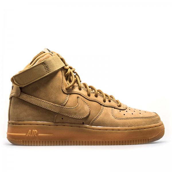 Nike Wmn Air Force 1 High WB Flax  Sand