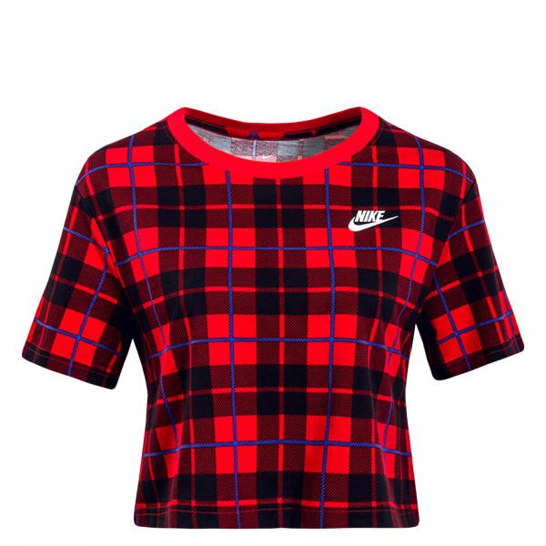 Damen T-Shirt Future Plaid Red Black