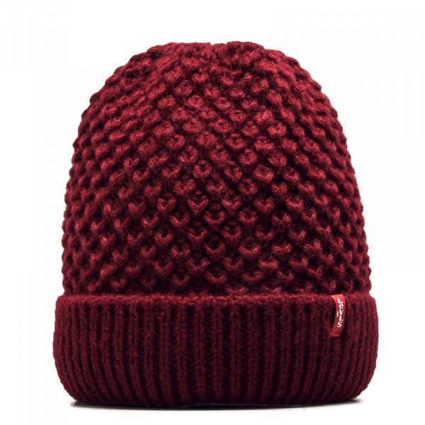 Beanie Classic Knit Bordeaux