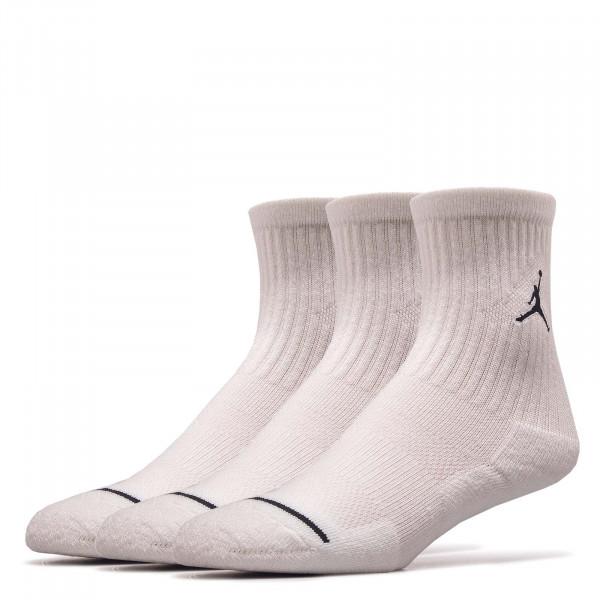Nike Jordan Socks SX 5545 3er P Wht Blk
