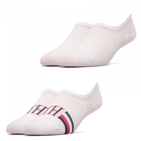 Socken 2er-Pack Footie Iconic Stripe White
