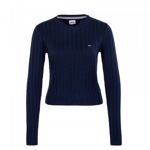 Damen Knit Sweater Regular Rib Twilight Navy