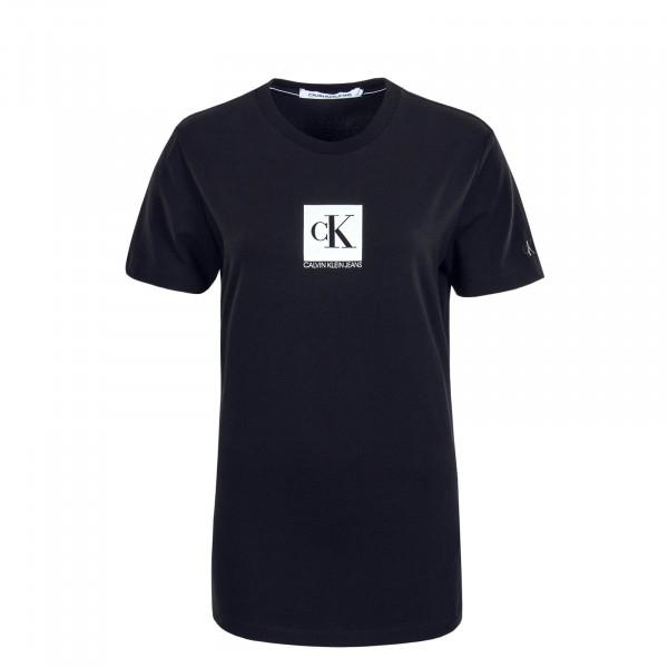 Herren T-Shirt Center Monogram Box Black
