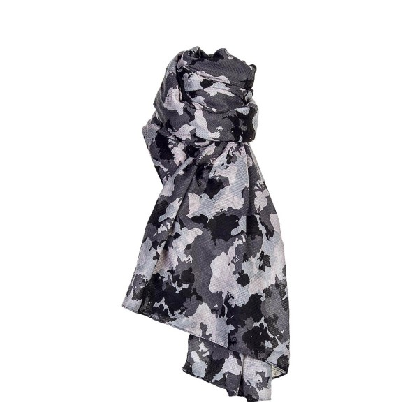 Only Scarf Brittany Weaved Camo Grey Blk