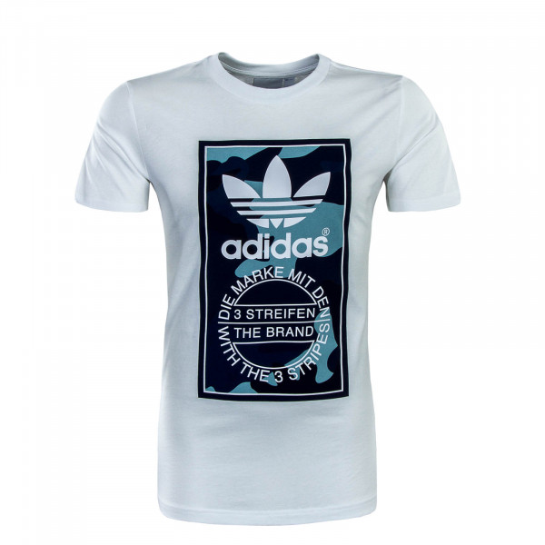 Herren T-Shirt 3662 White Blue Camouflage