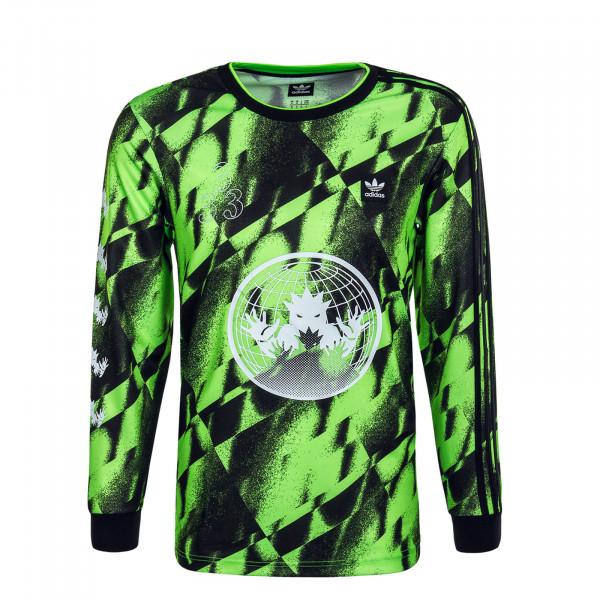 Herren Longsleeve Club Jersey 2 Green Black