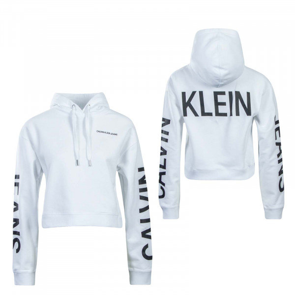 CK Wmn Hoody Cropped Institutional White