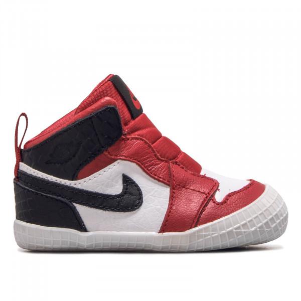 Baby Sneaker Jordan 1 Crib Bootie Red Black white