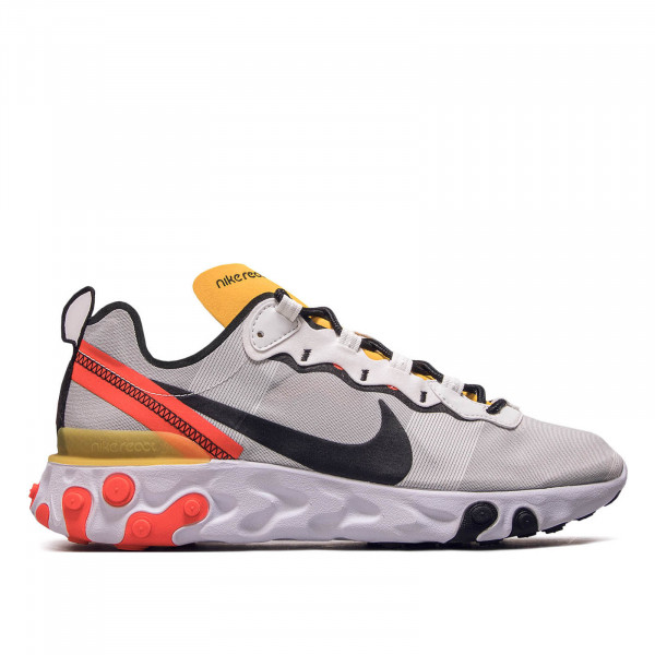 Herren Sneaker React Element 55 White BlackCrimson