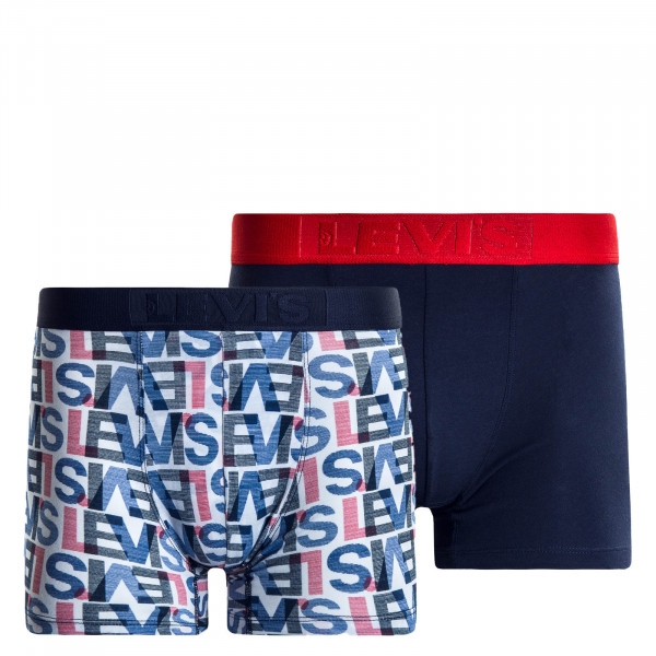 2er-Pack Boxershort Logo Navy Red White