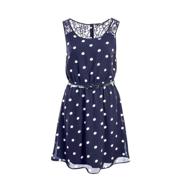 Only Dress Lia Lace Belt Navy Point