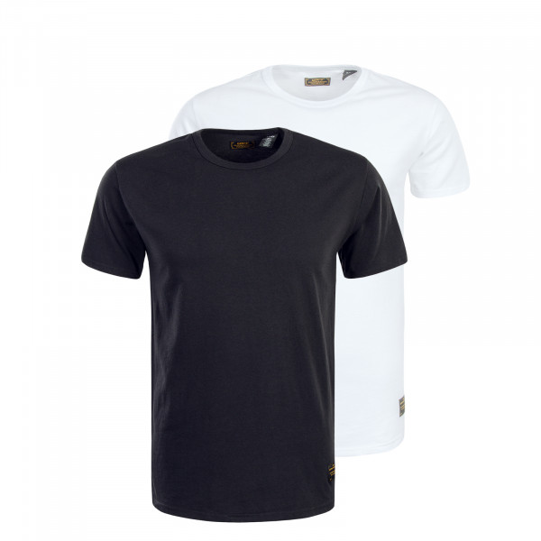 Herren Shirts 2er Pack Skate  Black White