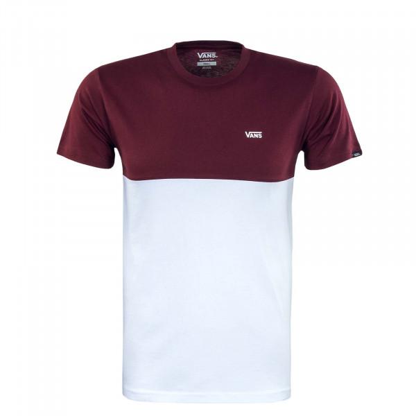 Herren T-Shirt - Colorblock - White / Port / Royal