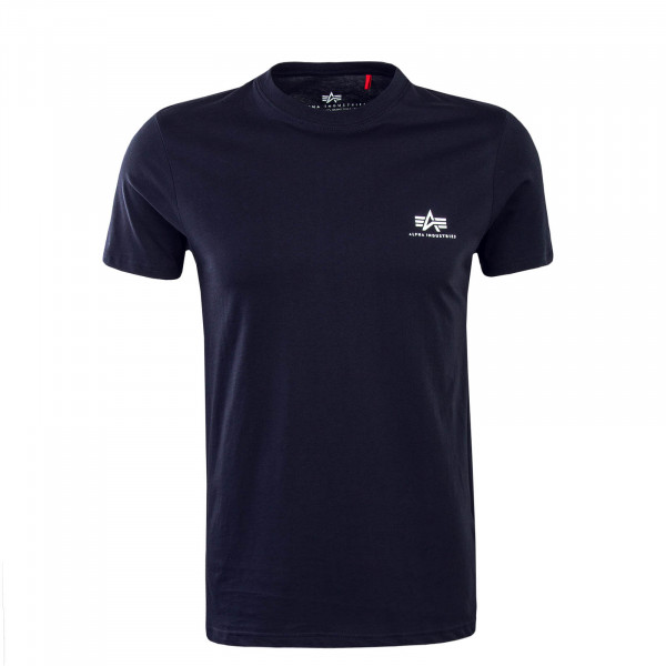 Herren T-Shirt Small Basic Navy