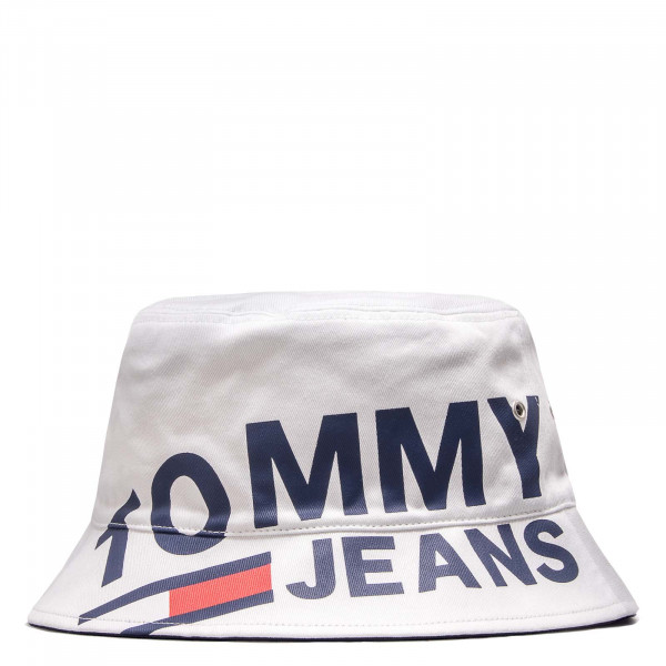 Tommy Hat Logo Bucket White