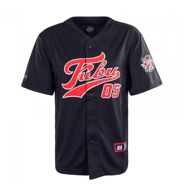Herren T-Shirt Varsity SSL Baseball Jersey Black