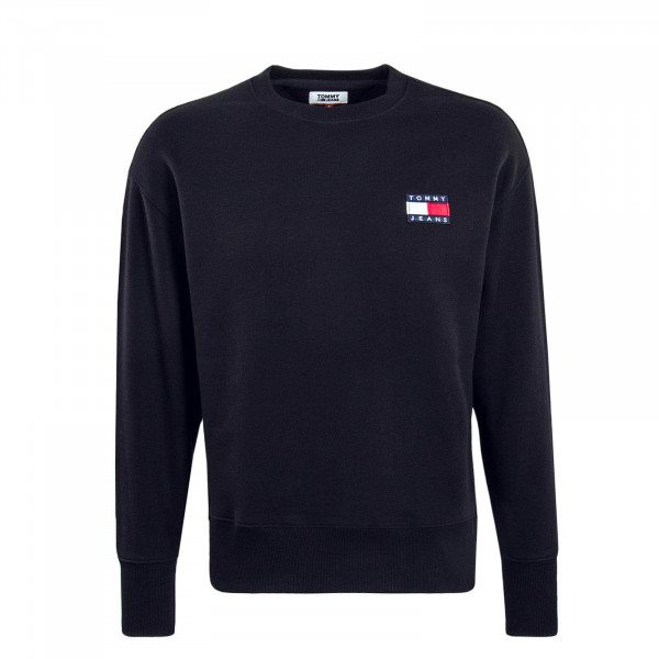 Herren Sweatshirt 6592 Badge Crew Black