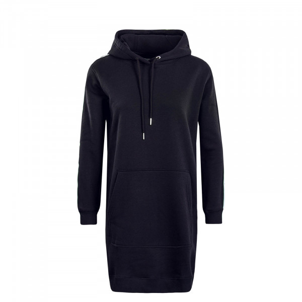 Damen Kleid Hooded Mono Tape Black