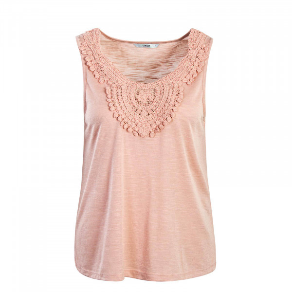 Damen Top Lisa Crochet Misty Rose