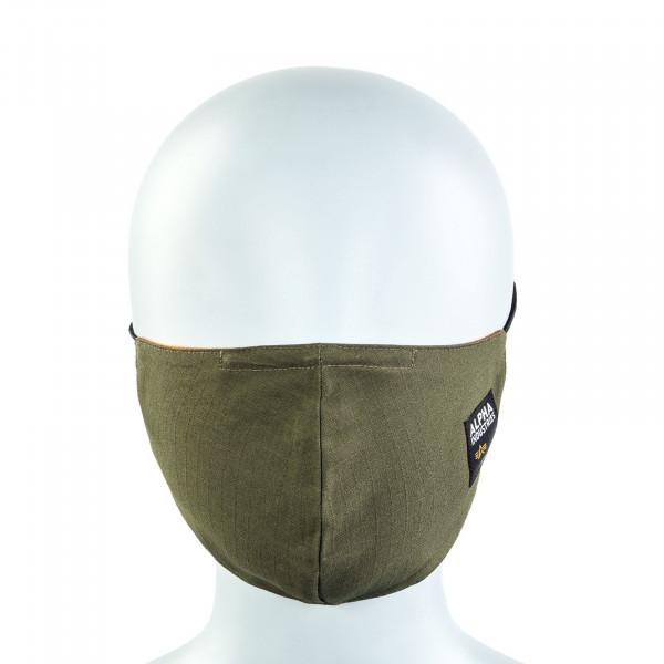 Alltagsmaske - Label Ripstop Face Mask - Dark Olive