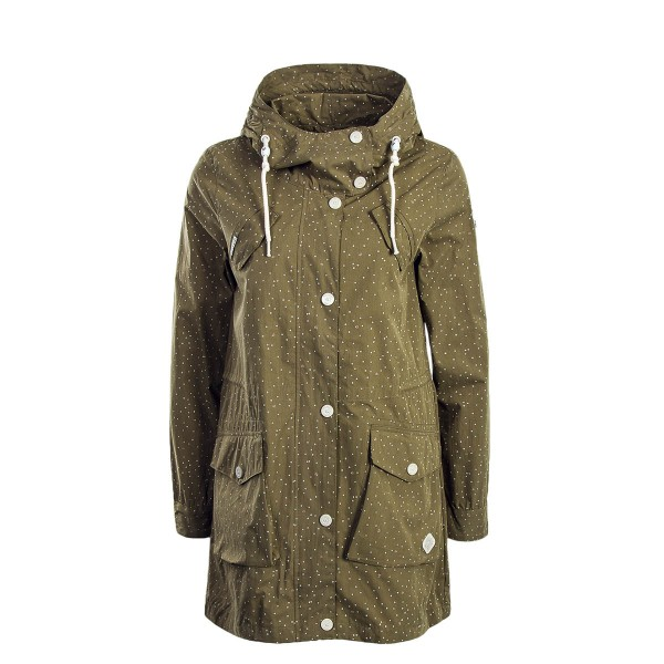 Rag Wear Wmn Jkt Clancy Dots Lt Olive