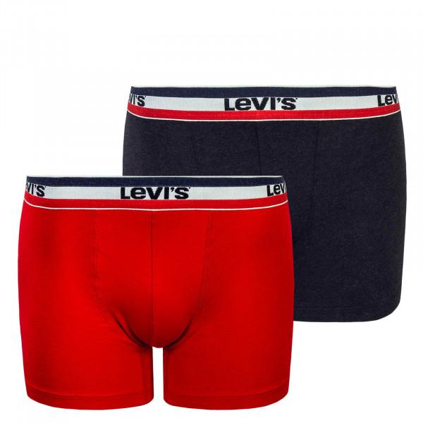 Levis Boxer 2 PK Sportswear Red Anthrazit