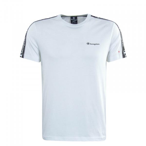 Herren T-Shirt White Black